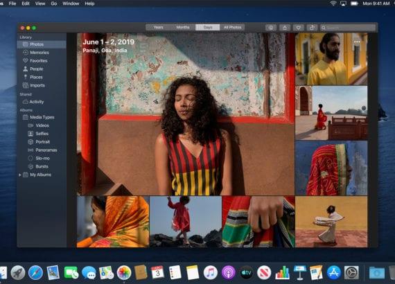 iPhoto updates macOS Catalina